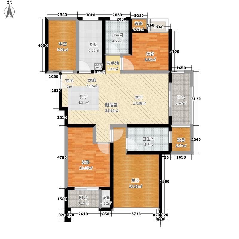 绿地波士顿公馆128.00㎡户型2室2厅