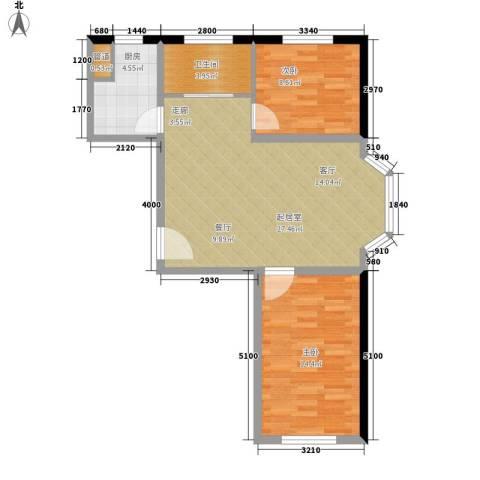 吉大菲尔瑞特2室0厅1卫1厨84.00㎡户型图