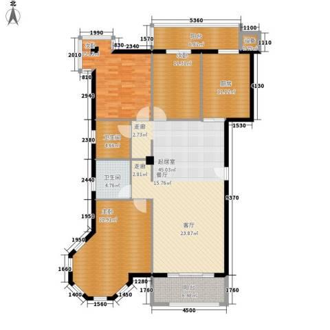 朝阳星苑3室0厅2卫1厨139.00㎡户型图