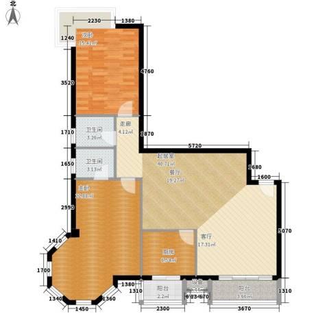 朝阳星苑2室0厅2卫1厨110.00㎡户型图