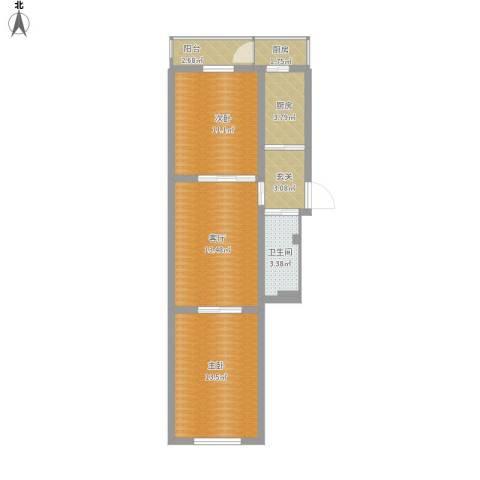 天意里2室1厅1卫2厨78.00㎡户型图