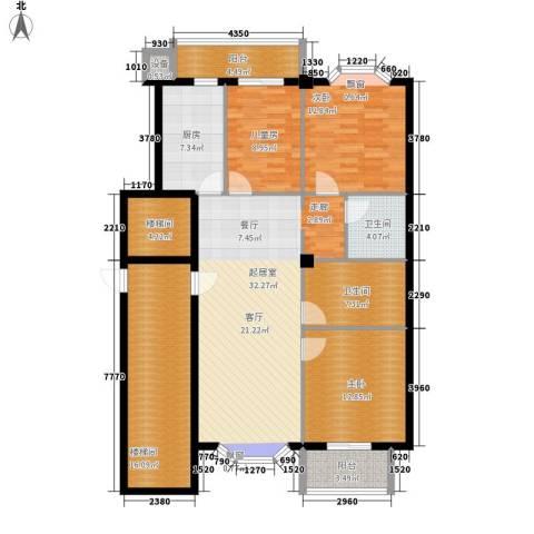 朝阳星苑3室0厅2卫1厨129.00㎡户型图