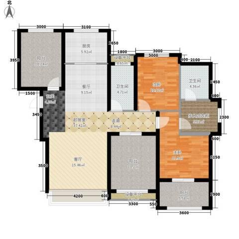 翠微新城2室0厅2卫1厨156.00㎡户型图
