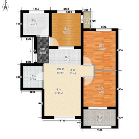 翠微新城2室0厅1卫1厨100.00㎡户型图