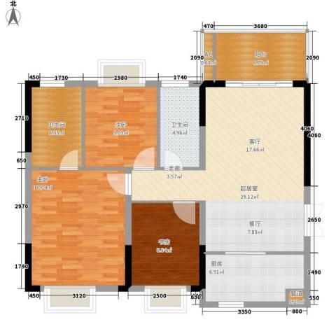 宜居莱茵城3室0厅2卫1厨101.00㎡户型图