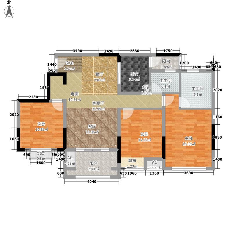 首信皇冠假日104.55㎡一期洋房9/10号楼标准层A1-6-2户型2室2厅