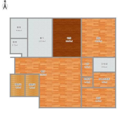 富力城C区3室2厅1卫2厨167.00㎡户型图