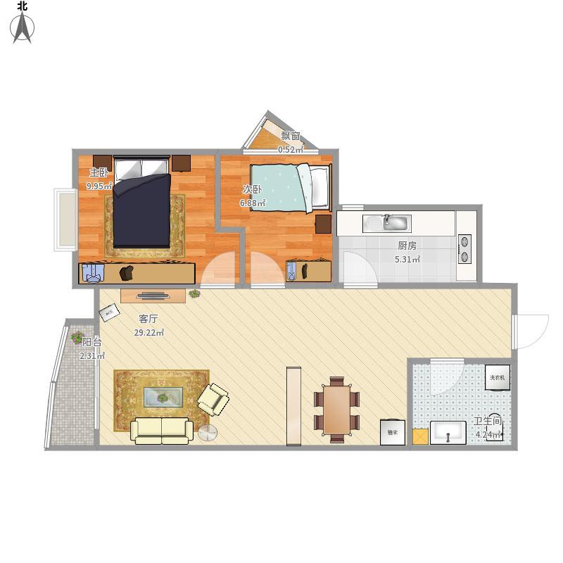 高阳小区3号楼8层的户型图