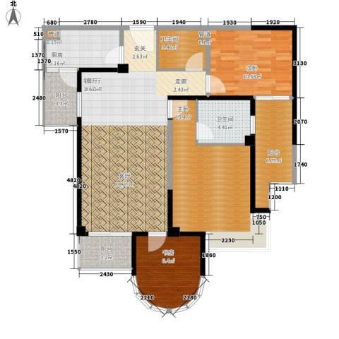 红谷凯旋3室1厅2卫1厨131.00㎡户型图