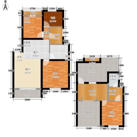 颐家春天4室0厅2卫1厨132.00㎡户型图