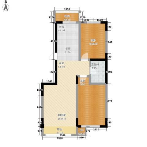 万盛中央一品2室0厅1卫0厨99.00㎡户型图