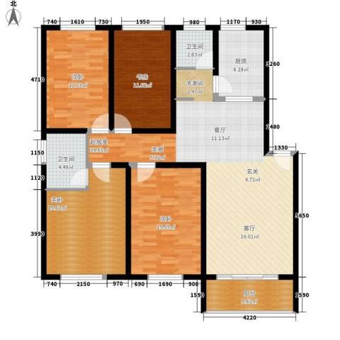 颐家春天4室0厅2卫1厨130.00㎡户型图
