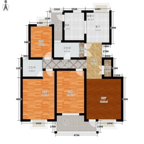 新世界花园3室1厅2卫1厨163.00㎡户型图