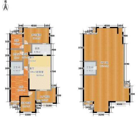 金科帕提欧Ⅱ美遇2室0厅3卫1厨254.63㎡户型图