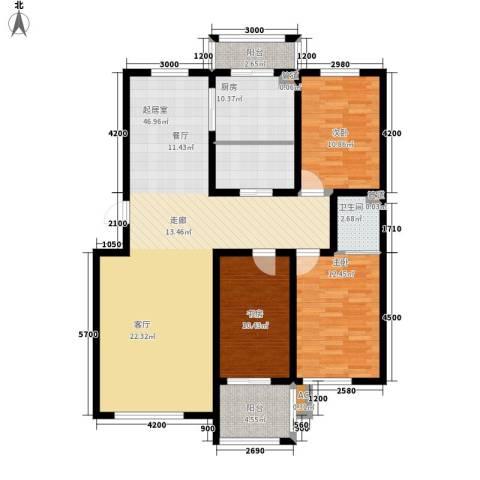 阳光华尔兹3室0厅1卫1厨146.00㎡户型图