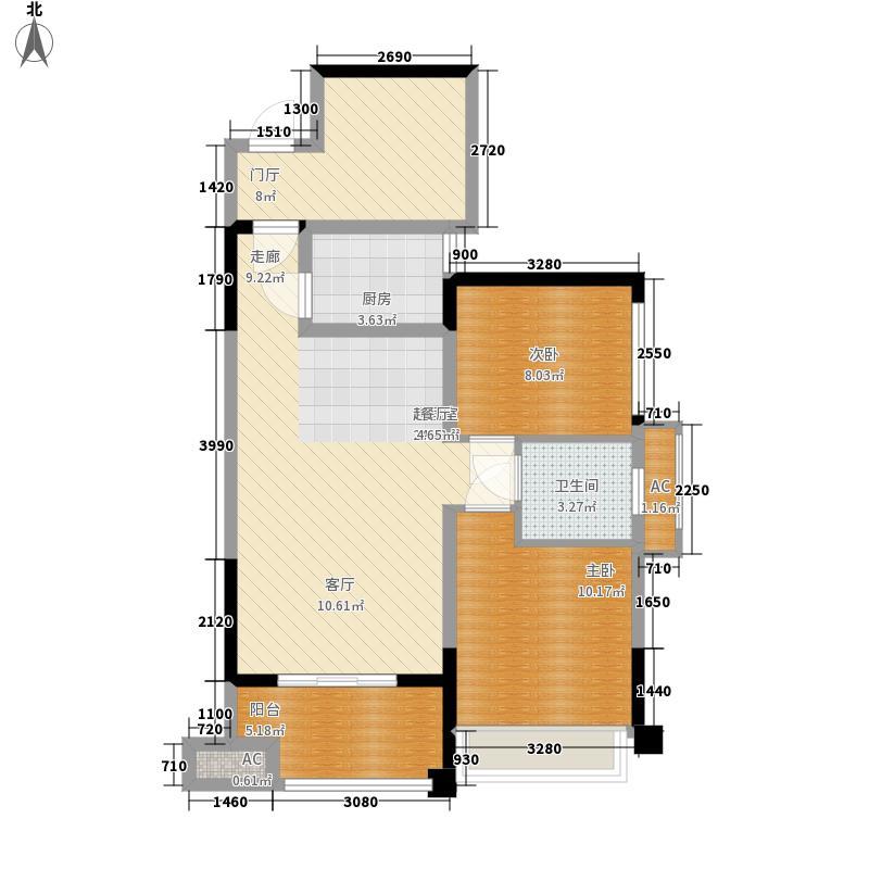 家和院79.55㎡A1户型2室2厅