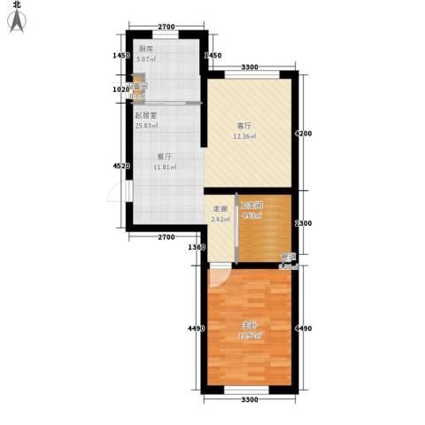 阳光华尔兹1室0厅1卫1厨71.00㎡户型图
