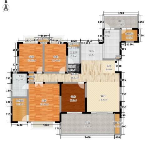 天府欣苑4室1厅2卫1厨189.00㎡户型图