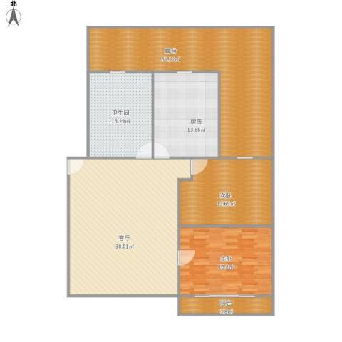 开城新村2室1厅1卫1厨173.00㎡户型图