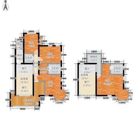 金科帕提欧Ⅱ美遇4室0厅3卫1厨142.72㎡户型图
