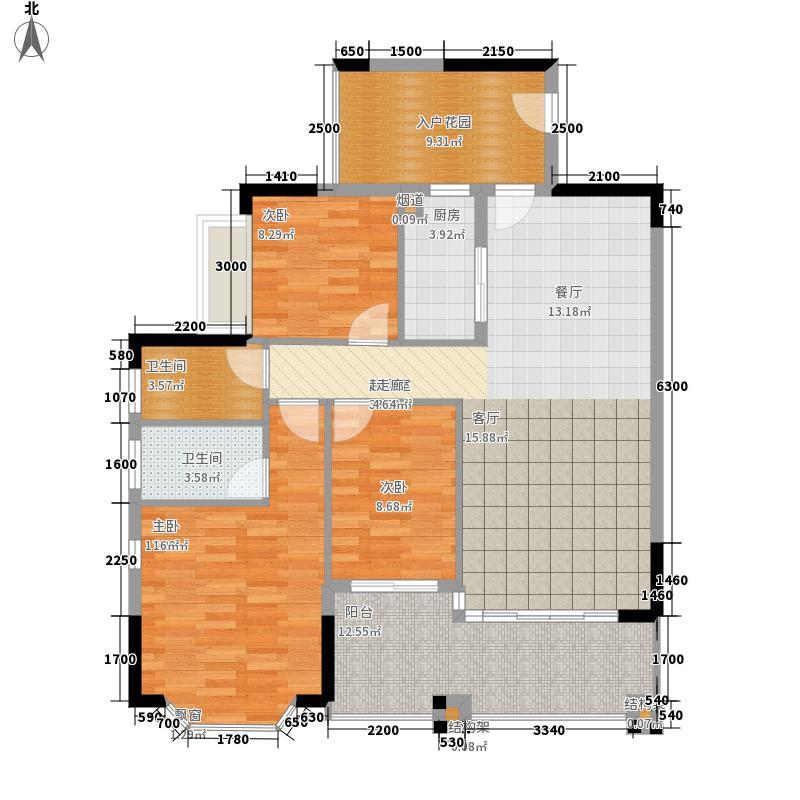 滨江帝景117.83㎡二期白蔷薇A、B栋户型