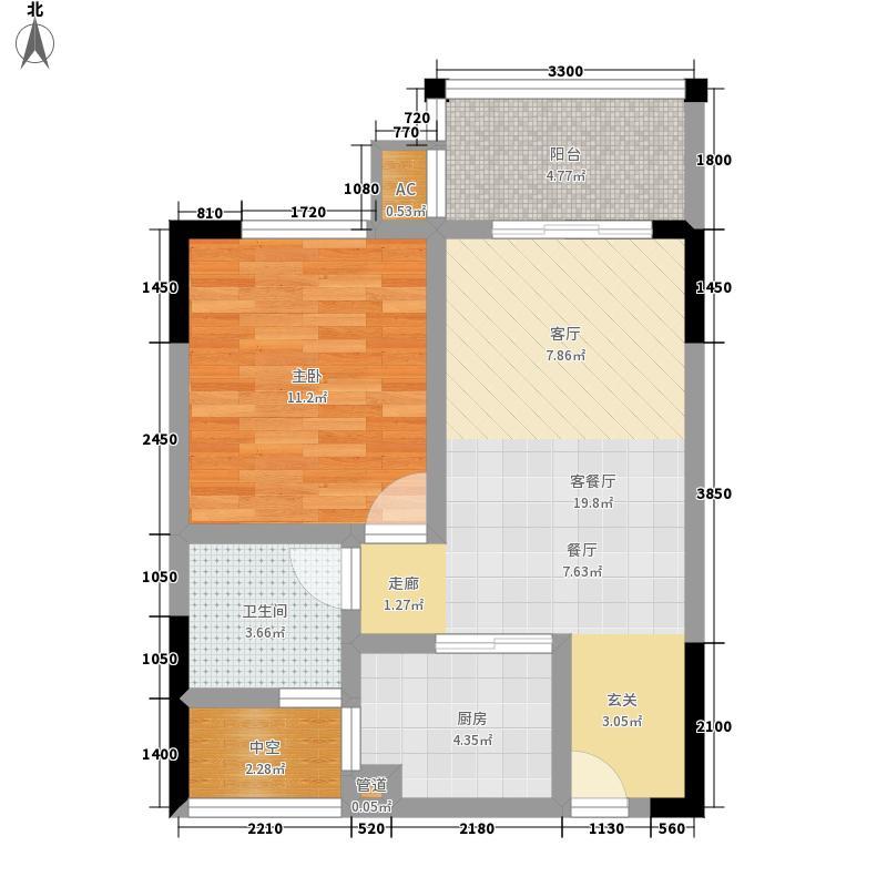 海南大鹏戴斯五星级温泉度假酒店60.44㎡花园洋房C户型