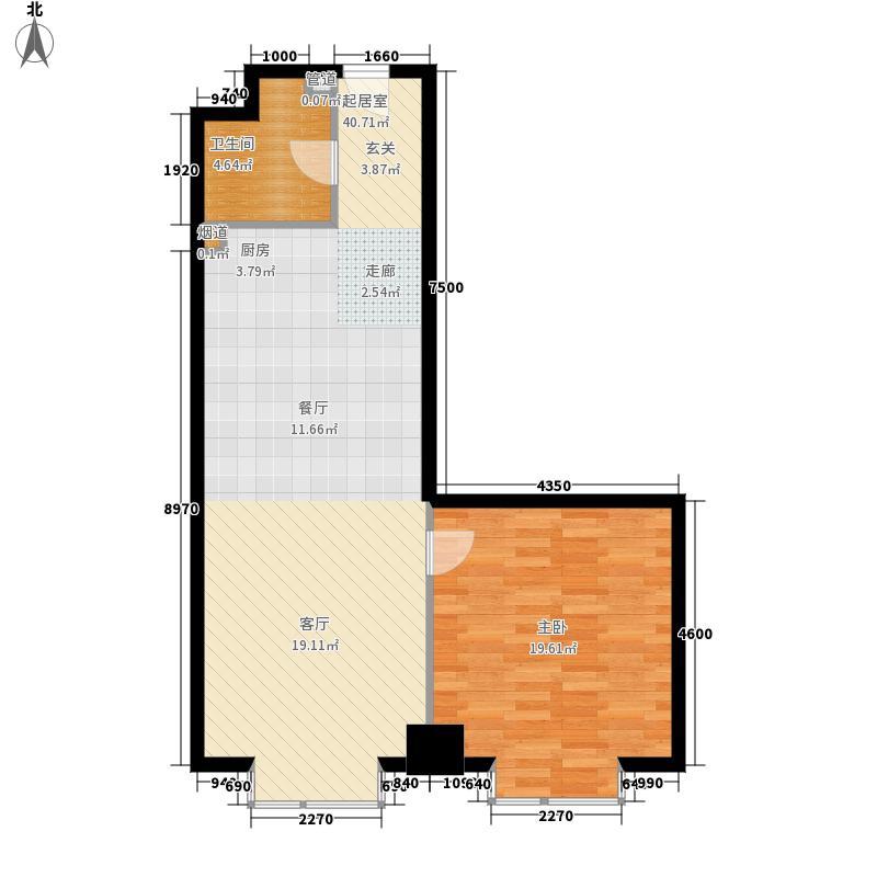 万隆国际中心92.49㎡2号楼公寓G面积9249m户型