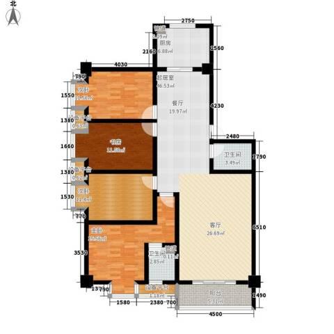 御笔华府4室0厅2卫1厨144.00㎡户型图