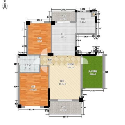鹦鹉花园2室0厅1卫1厨117.00㎡户型图