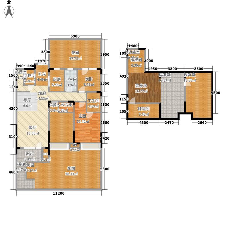 美的城139.00㎡户型3室2厅