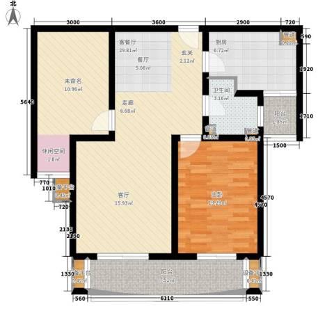 华林国际1室1厅1卫1厨112.00㎡户型图