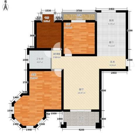新悦润居3室0厅1卫0厨128.00㎡户型图