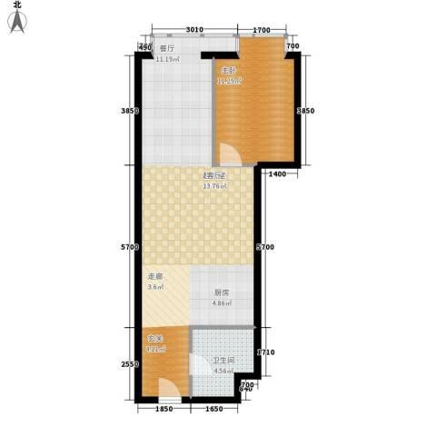 万隆国际中心1室0厅1卫0厨76.00㎡户型图