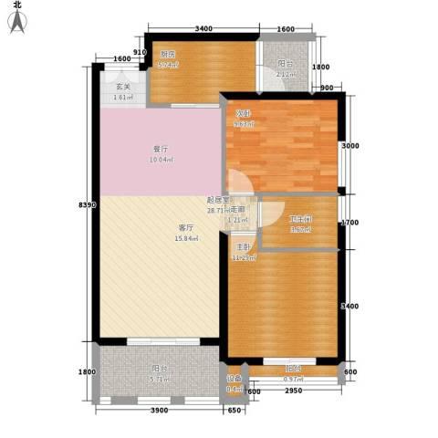 军工3541社区2室0厅1卫1厨98.00㎡户型图