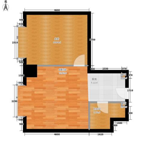 万隆国际中心1室0厅1卫0厨66.00㎡户型图