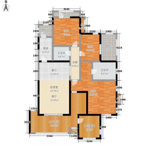 金科帕提欧Ⅱ美遇3室0厅2卫1厨165.00㎡户型图