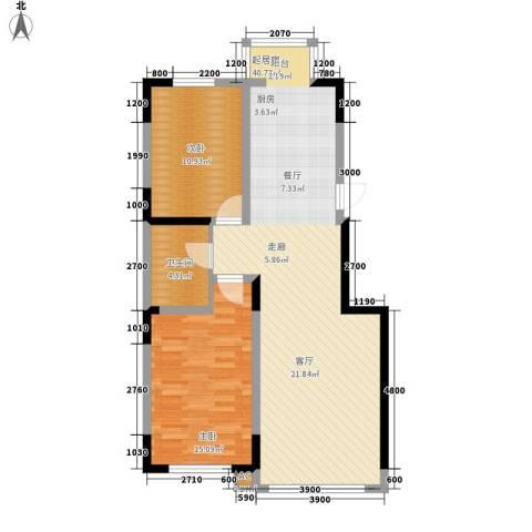 万盛中央一品2室0厅1卫0厨101.00㎡户型图