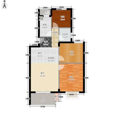 七里晴川3室0厅1卫1厨93.00㎡户型图