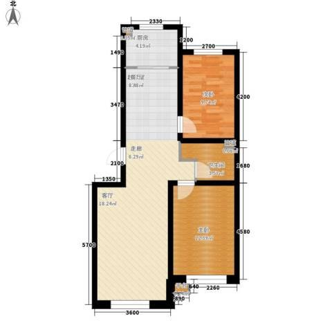 阳光华尔兹2室0厅1卫1厨91.00㎡户型图