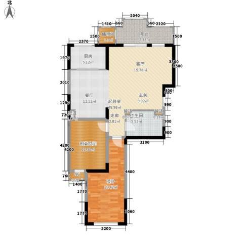 金科帕提欧Ⅱ美遇1室0厅1卫1厨93.00㎡户型图