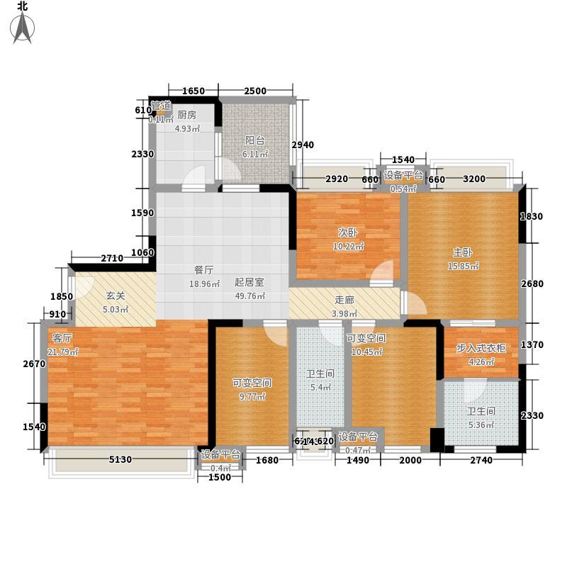 合能西贵金沙150.37㎡5号楼1单元面积15037m户型