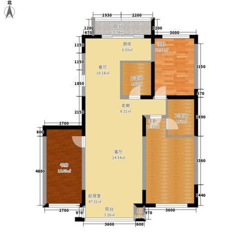 万盛中央一品3室0厅2卫0厨144.00㎡户型图