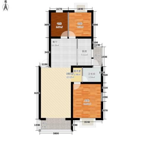 爱达花园兰花园3室0厅1卫1厨102.00㎡户型图
