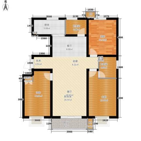 紫苑3室0厅2卫1厨130.00㎡户型图