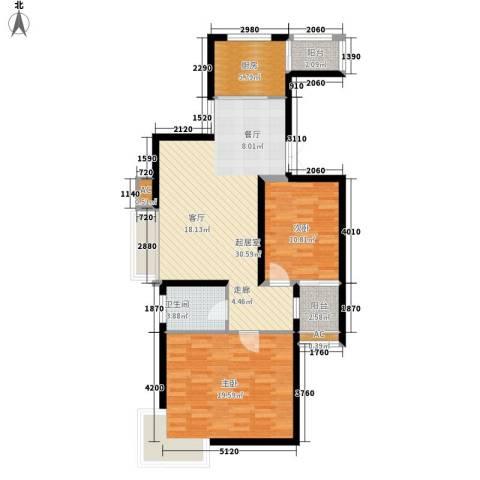 风情假日2室0厅1卫1厨89.00㎡户型图
