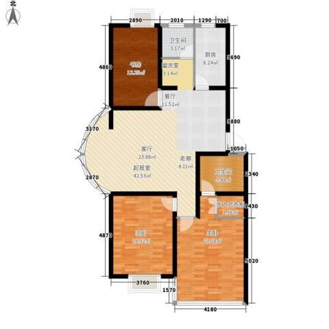 爱达花园兰花园3室0厅2卫1厨125.00㎡户型图