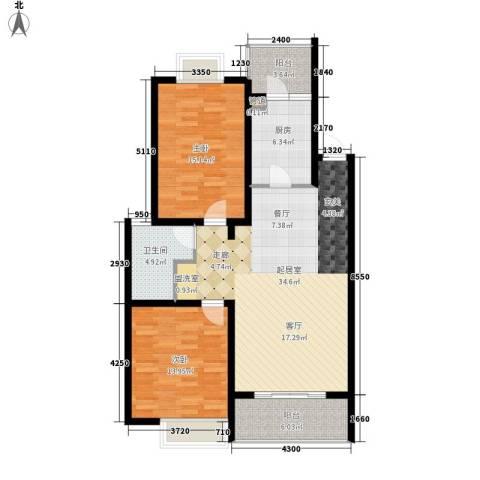 翠微新城2室0厅1卫1厨120.00㎡户型图