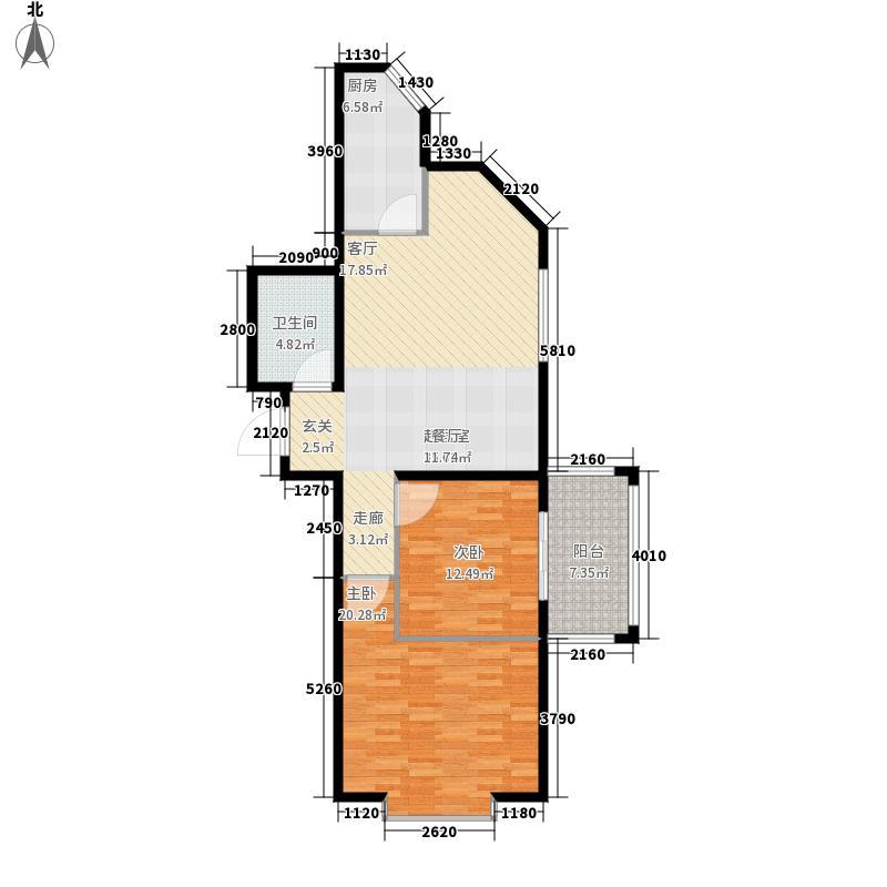 万佳金凯园95.91㎡9591面积9591m户型