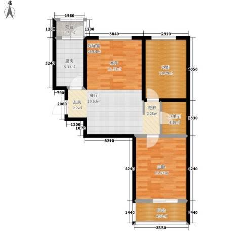 恒富苑小区2室0厅1卫1厨93.00㎡户型图