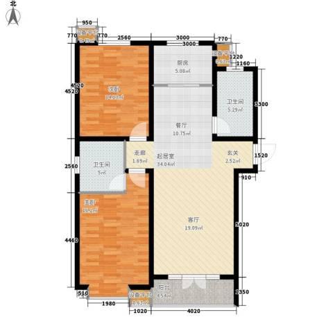 鑫正公寓2室0厅2卫1厨121.00㎡户型图